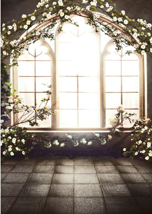 Wedding Church Window Backdrop