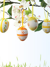 Easter Egg Tree Backdrop