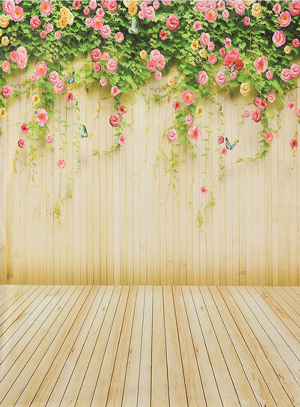 Flower Butterfly Wall Backdrop
