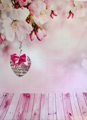 Pink Heart Charm Backdrop