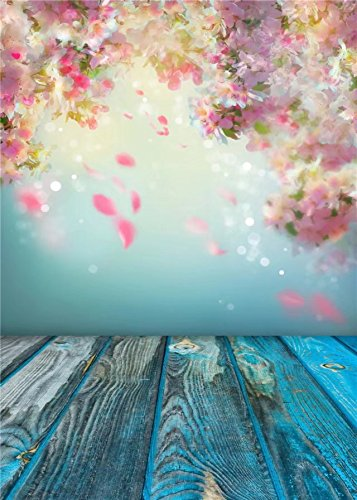 Flowery Turquoise Backdrop