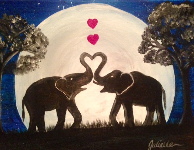 Elephant heart painting party