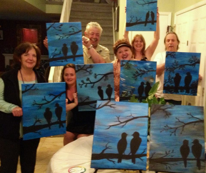 Birds Painting Party Fun