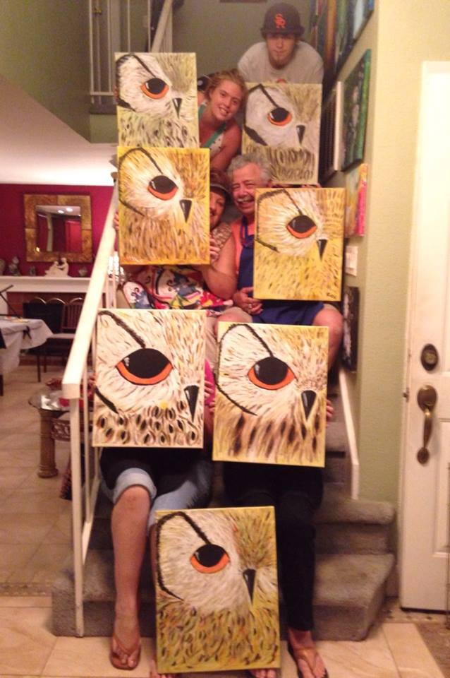 Owl Painting Party Beginner Painting