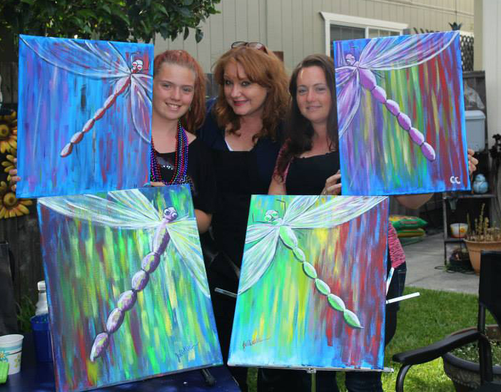 Dragonfly Painting Party