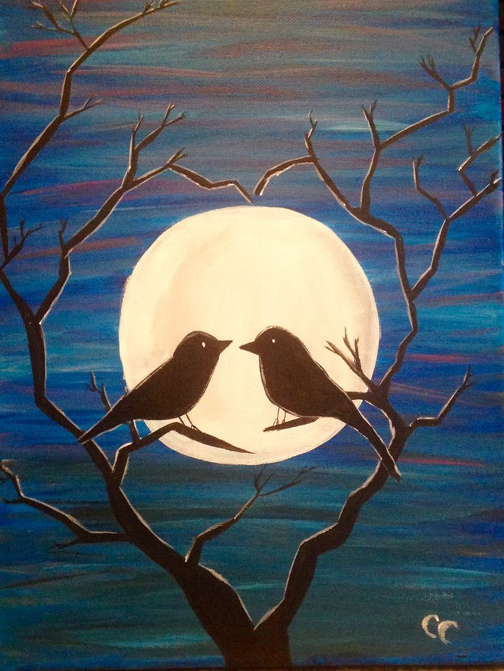 Bird Silhouette Painting