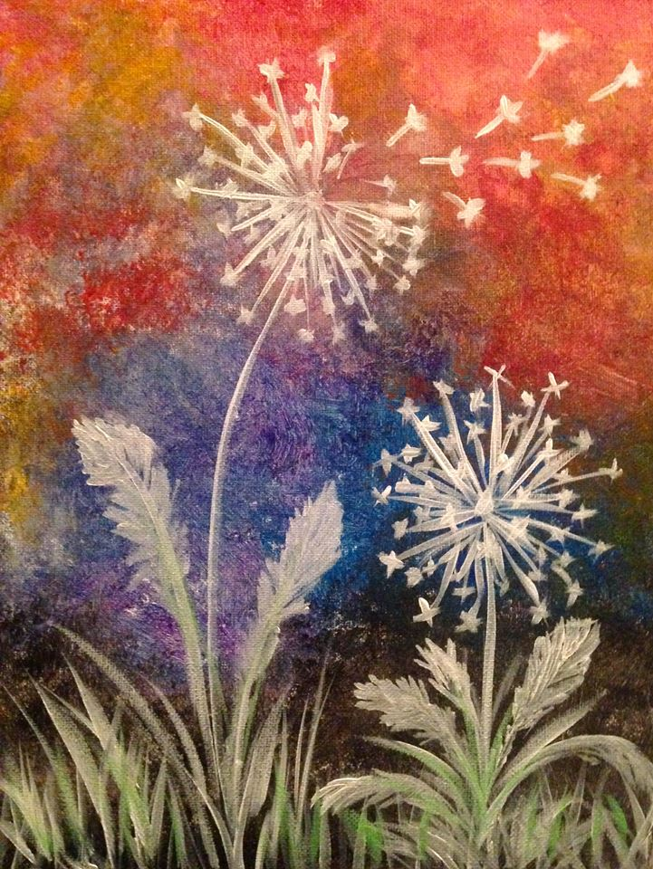 dandelion painting party