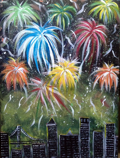 Fireworks Painting Party