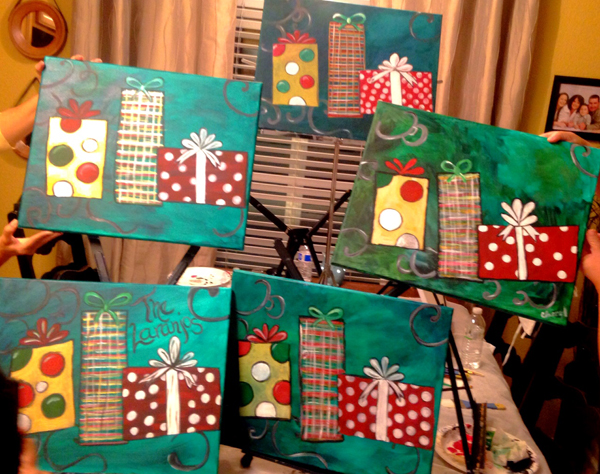 Christmas Present Painting Party