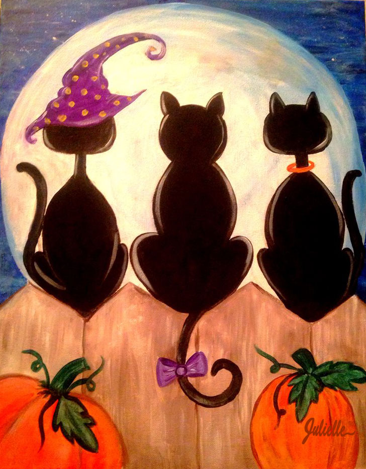 Halloween Kitties Painting Party