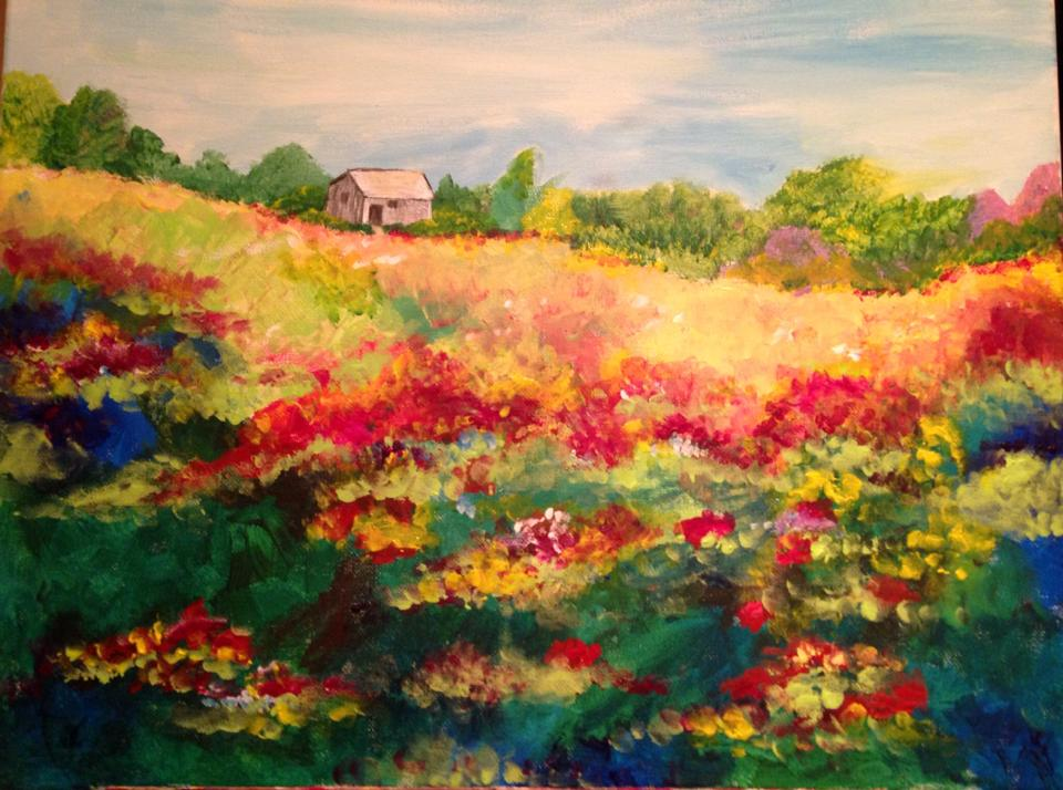 Flower field Painting Party