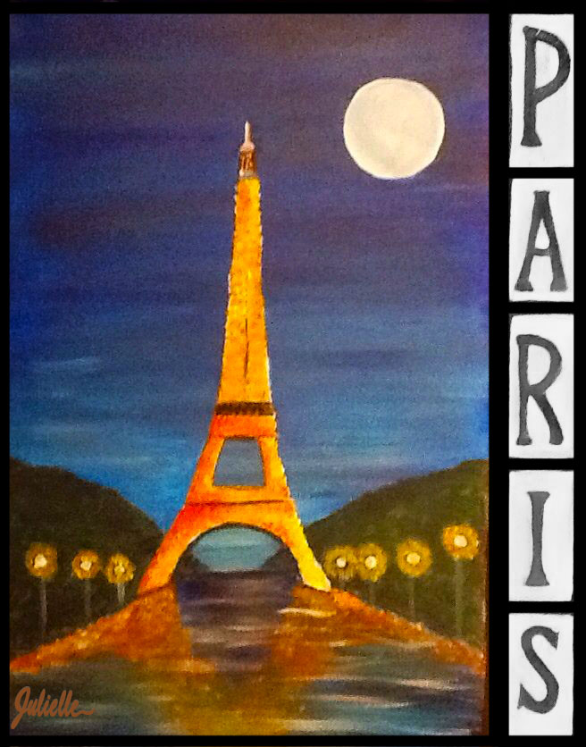 Paris Eiffel Tower Painting Party