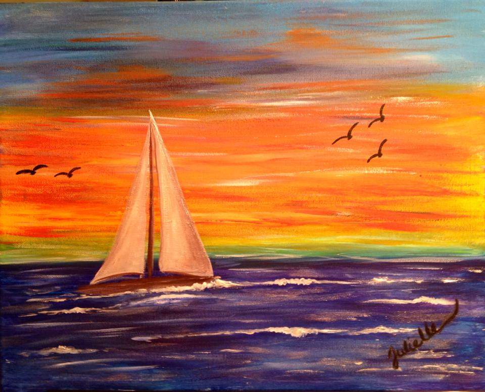 Sailing painting party