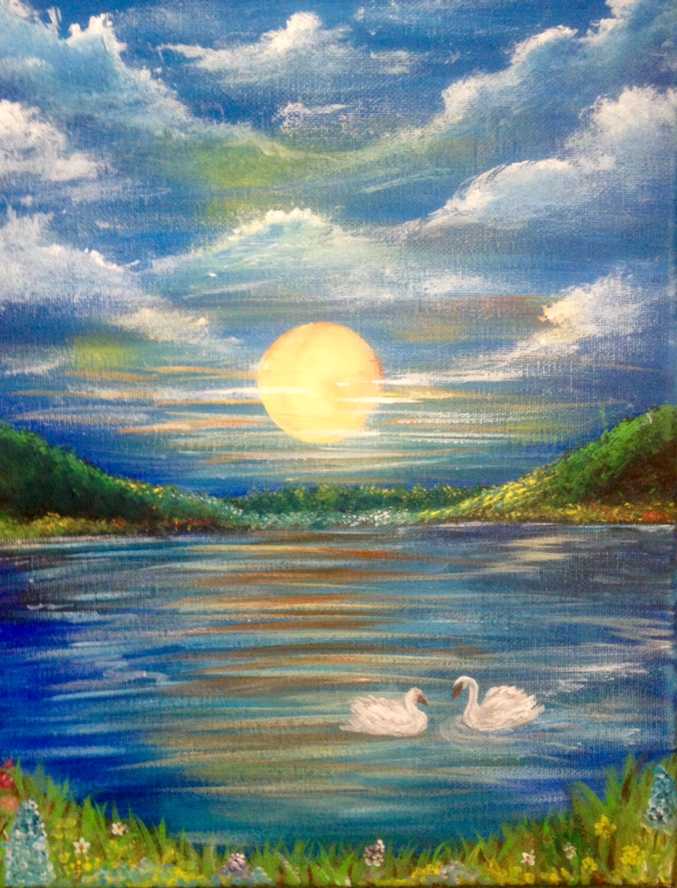 Peaceful Lake Painting