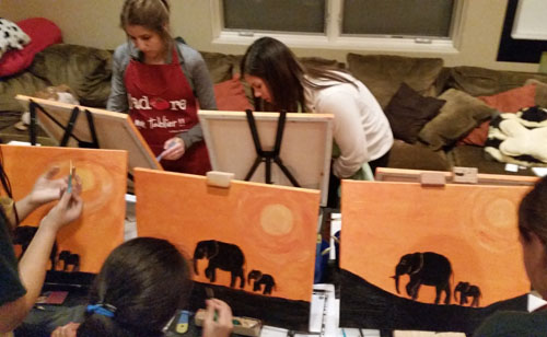 Safari Painting Party