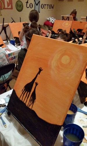 Giraffe Painting Party