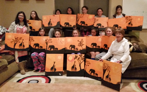 elephant painting party