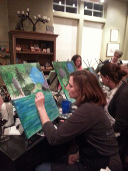 Tasting Room on the Green Paintiing Party February 2015