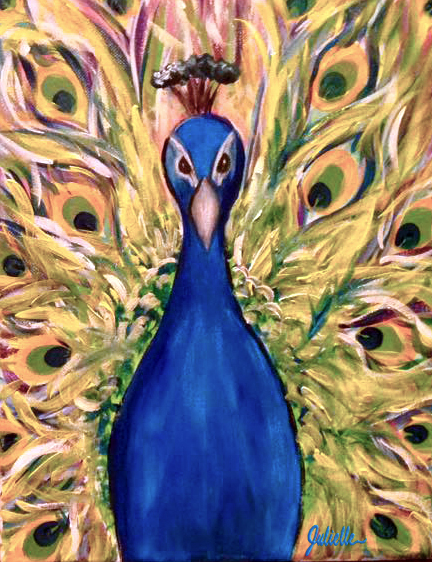peacock painting party