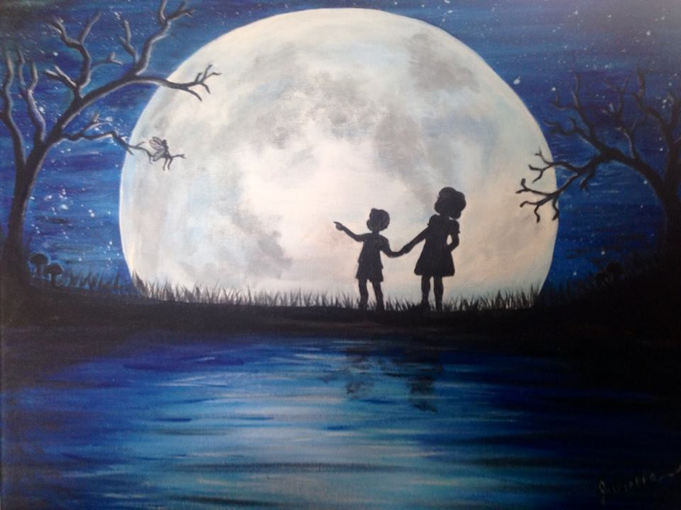 full moon kids with fairy painting party