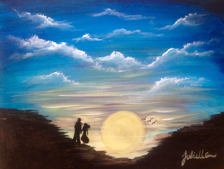Sunset Couple Painting