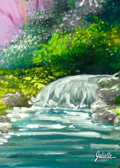 Waterfall Painting Party